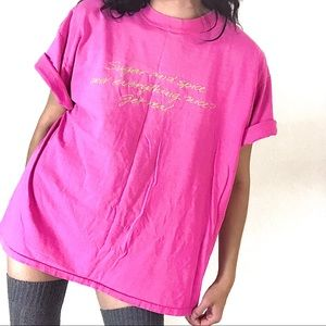 Vintage Virginia Slims Unisex Pink Oversized Tee